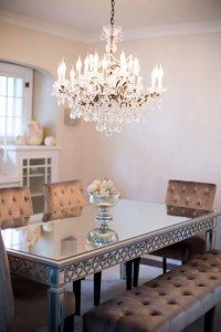 Chandelier over dining table | Future Home Ideas | Pinterest