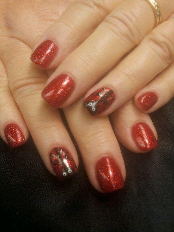 Cute Lady bug nail design