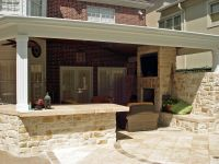 outdoor kitchen with covered patio | Building My Dream ...
