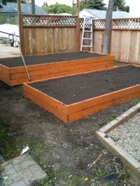 Raised planter boxes in the back yard! | Zachary | Pinterest