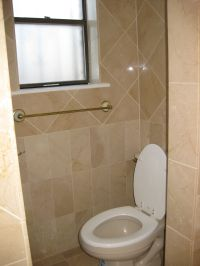 Half bathroom with white-ish tile. | Remodeling Ideas ...