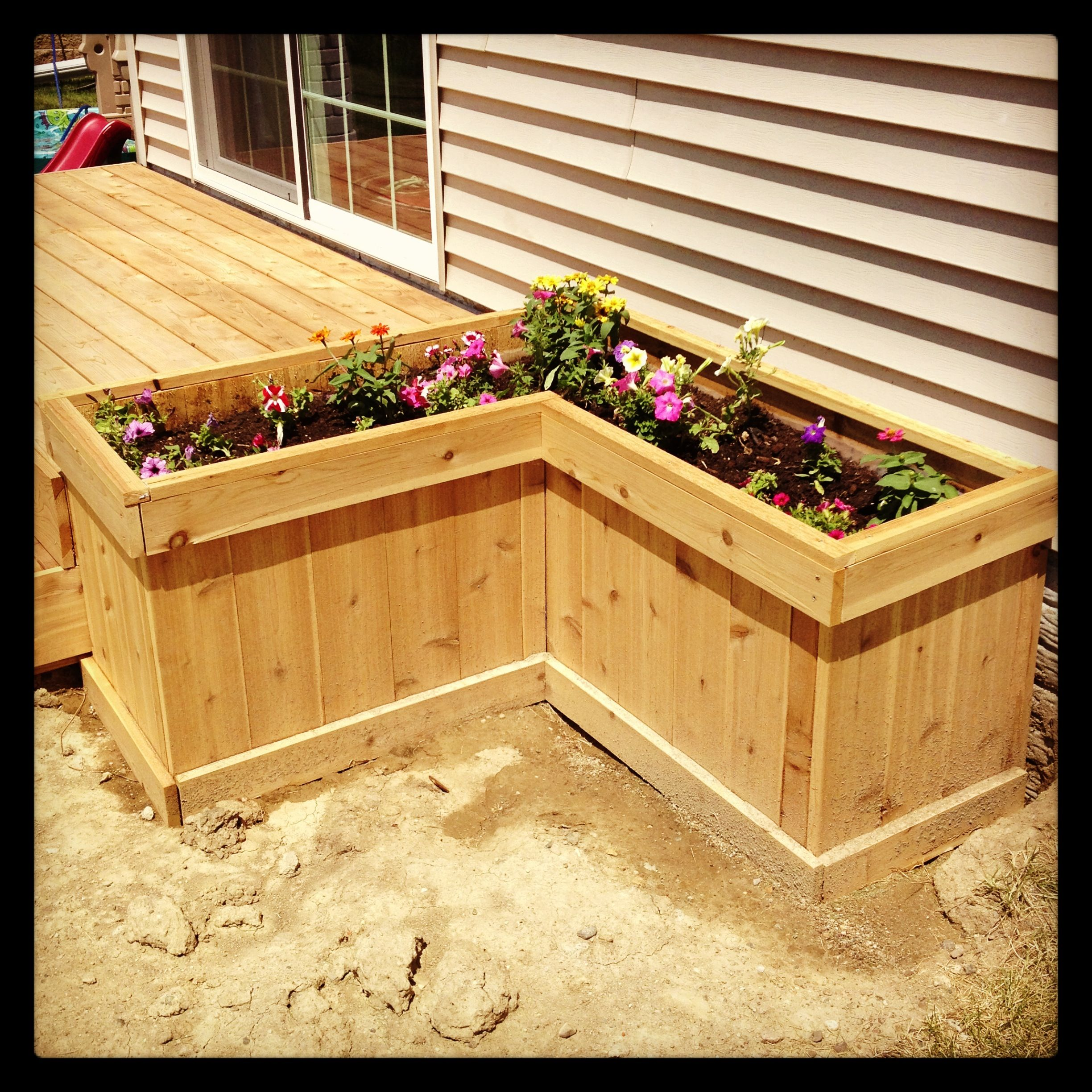 Box à Planter Deck Planter Box For The Yard Garden Planter Boxes