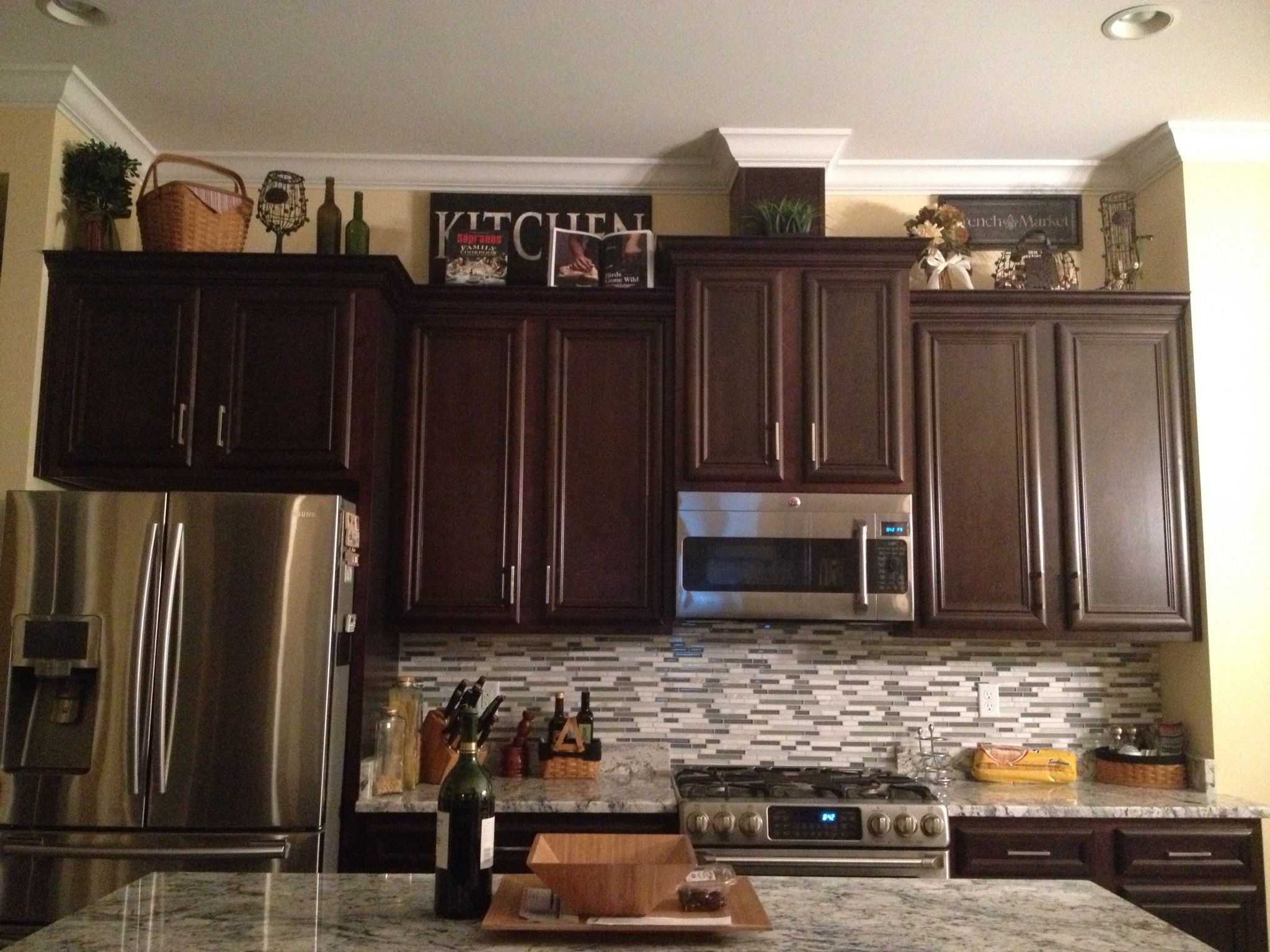 Decorating Above Kitchen Cabinets Decorations Above Cabinets Home Decor Pinterest