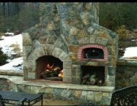 Fireplace / pizza oven combo | pizza ovens | Pinterest