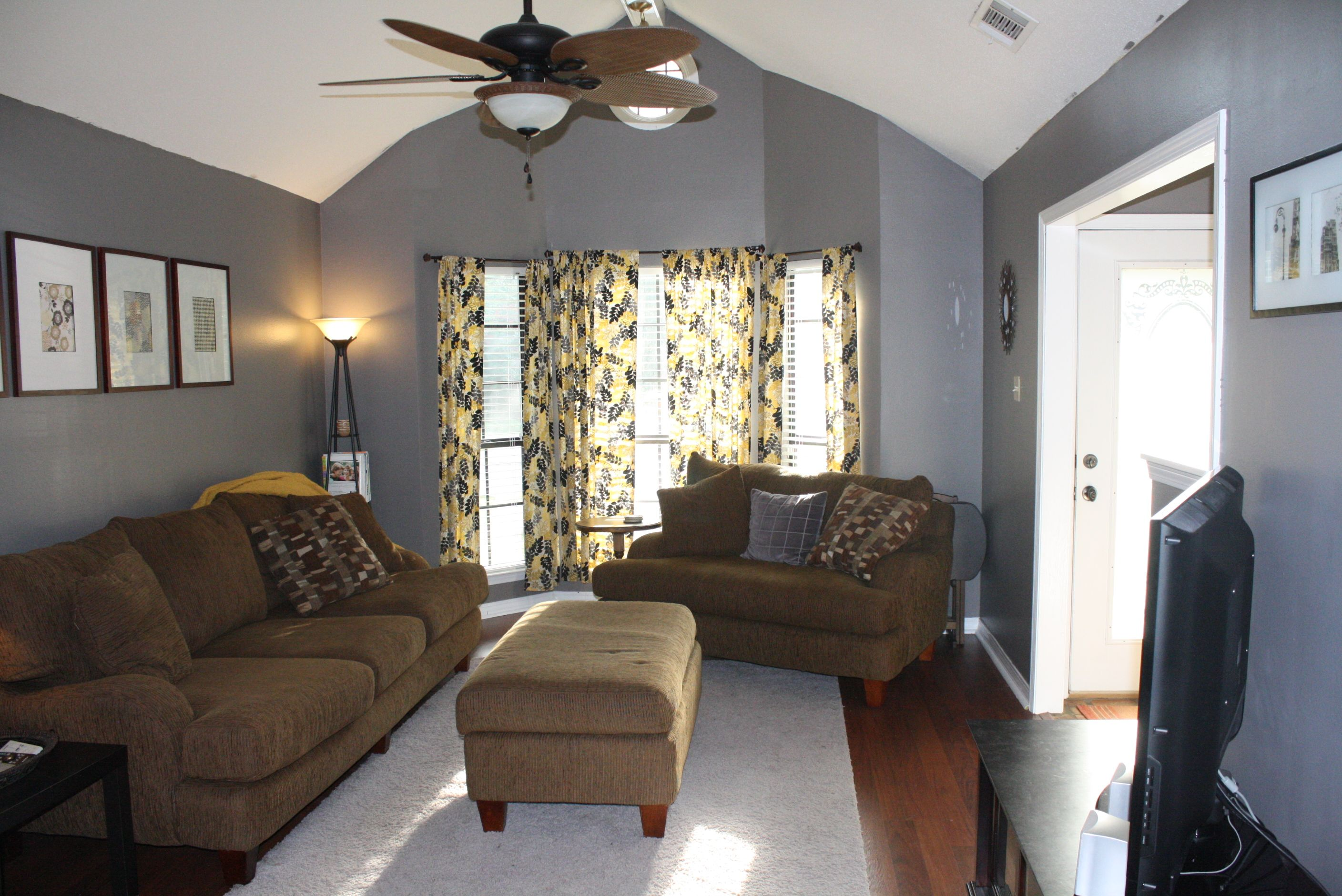 Yellow And Gray Living Room Gray And Yellow Living Room No Place Like Home Pinterest