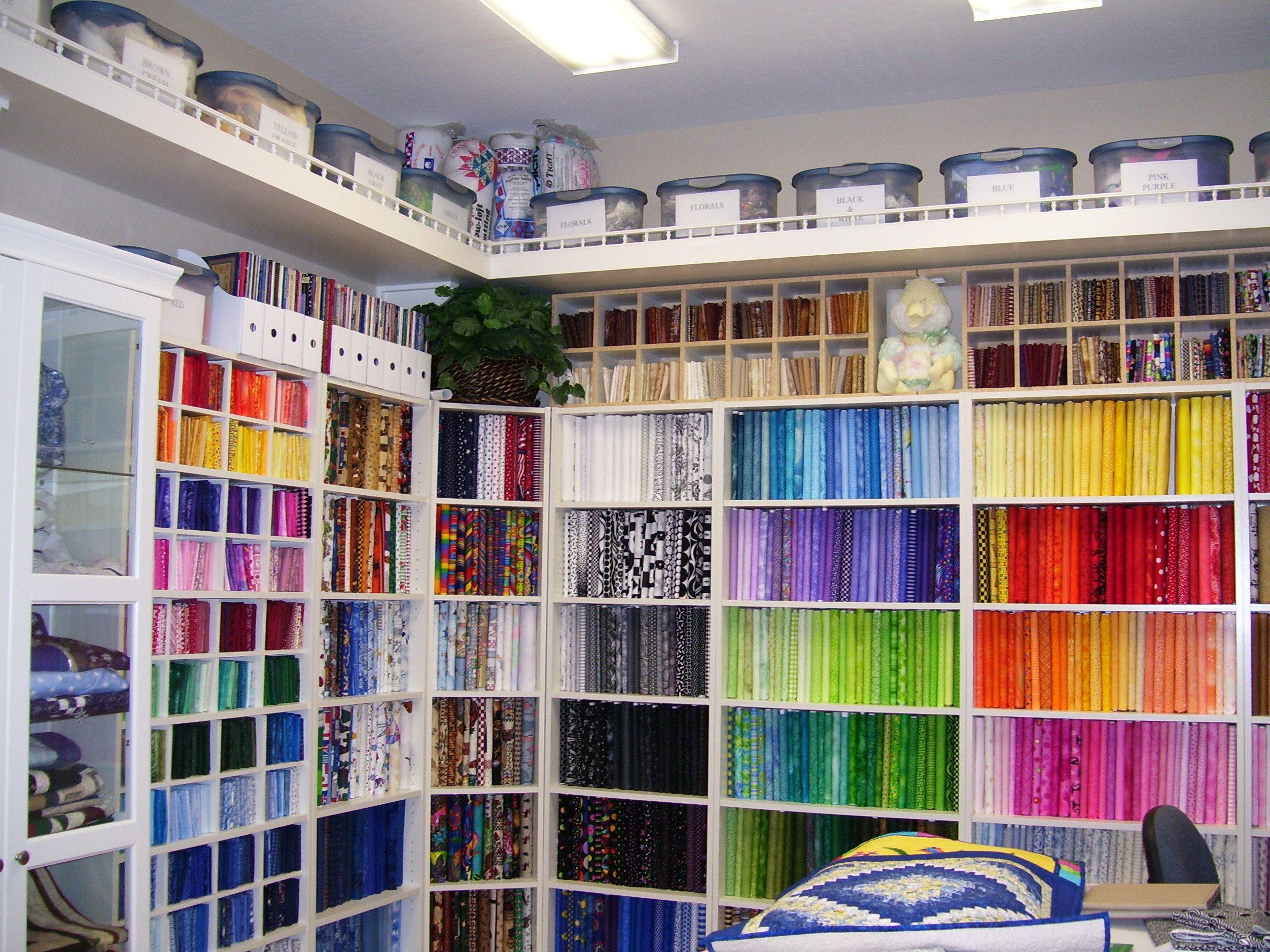 Quilting Room Quilt Sewing Craft Storage Ideas Pinterest. SaveEnlarge & Quilt Room Storage Ideas - Listitdallas