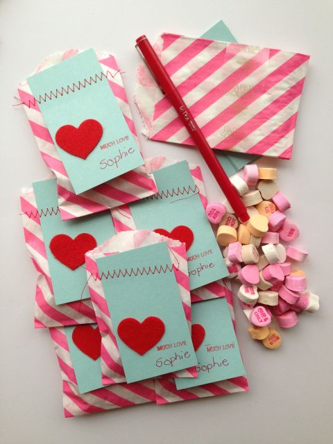 Pinterest Valentine Treat Bags Valentine Craft Bag Ideas