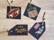 Football Gift Tags