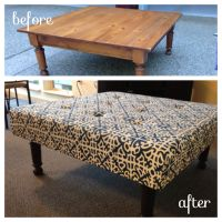DIY cheap coffee table turned ottoman! | Tips and Tricks ...