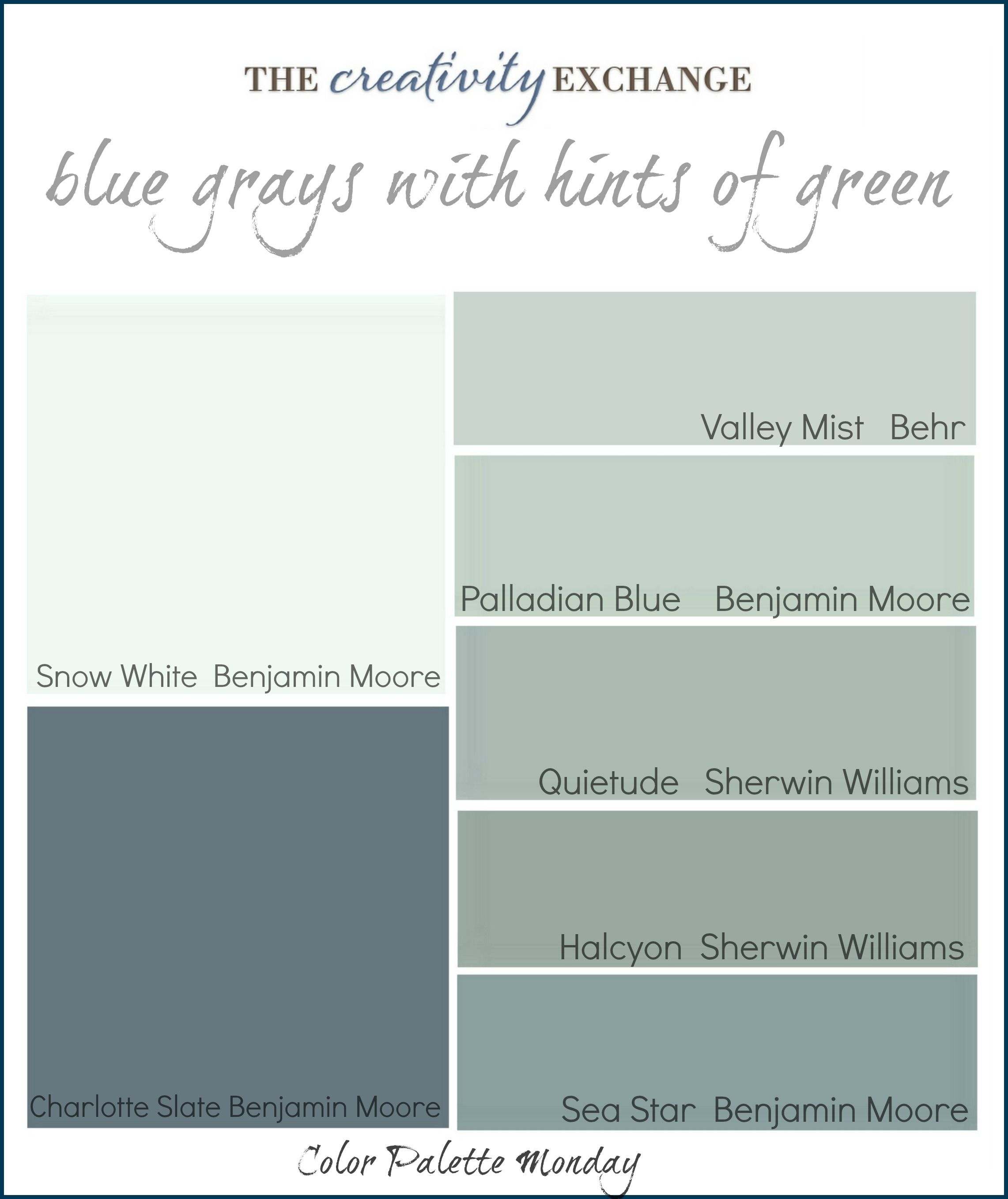 Most Popular Blue Gray Paint Colors Palladium Blue Color Palette For The Home Pinterest