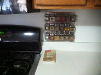 Magnetic wall mounted spice rack!!   PROJECTS   Pinterest