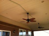 Vinyl beadboard ceiling w/ fans | Porches | Pinterest