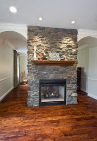 Two sided fireplace | Dream Home | Pinterest