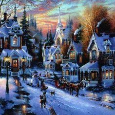 3d Snowy Cottage Animated Wallpaper Windows 7 Christmas Winter Scenes On Pinterest Christmas Scenes