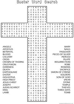 Christian Kids Word Search Bible Characters From The Book Act Fun