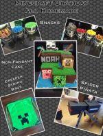 Minecraft Creeper Birthday Cake Homemade
