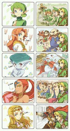 link and zelda comics