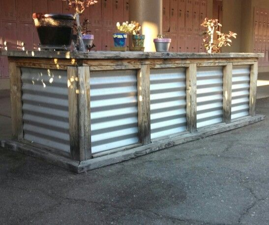 Corrugated Metal Kitchen Island Pin By Nancy Eldredge On Outdoor Grill Area Ideas | Pinterest