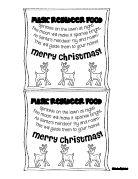 Free Printable Reindeer Food Label Speckless Blog