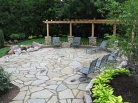 Flagstone Patio, Pergola and Fire Pit | outdoor living ...