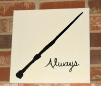 Customizable Harry Potter Silhouette Canvas Art, Harry ...