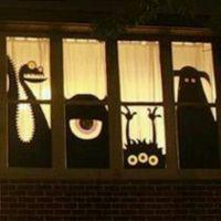 Halloween window silouettes | Halloween | Pinterest
