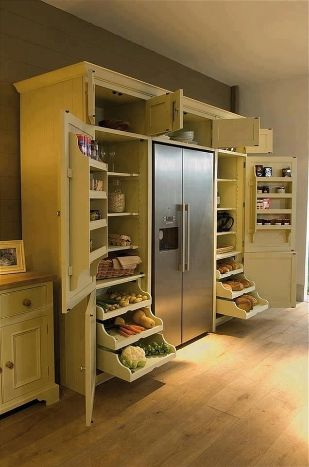 Great Cabinets Around Fridge Decorating Pinterest