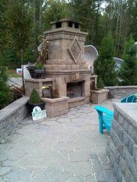 Outdoor fireplace with waterfalls. | Mi Casa su Casa ...