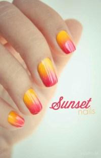 Sunset Nails   Super cute nail art   Pinterest