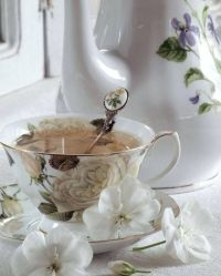 Beautiful tea cup and spoon!   tea for two   Pinterest