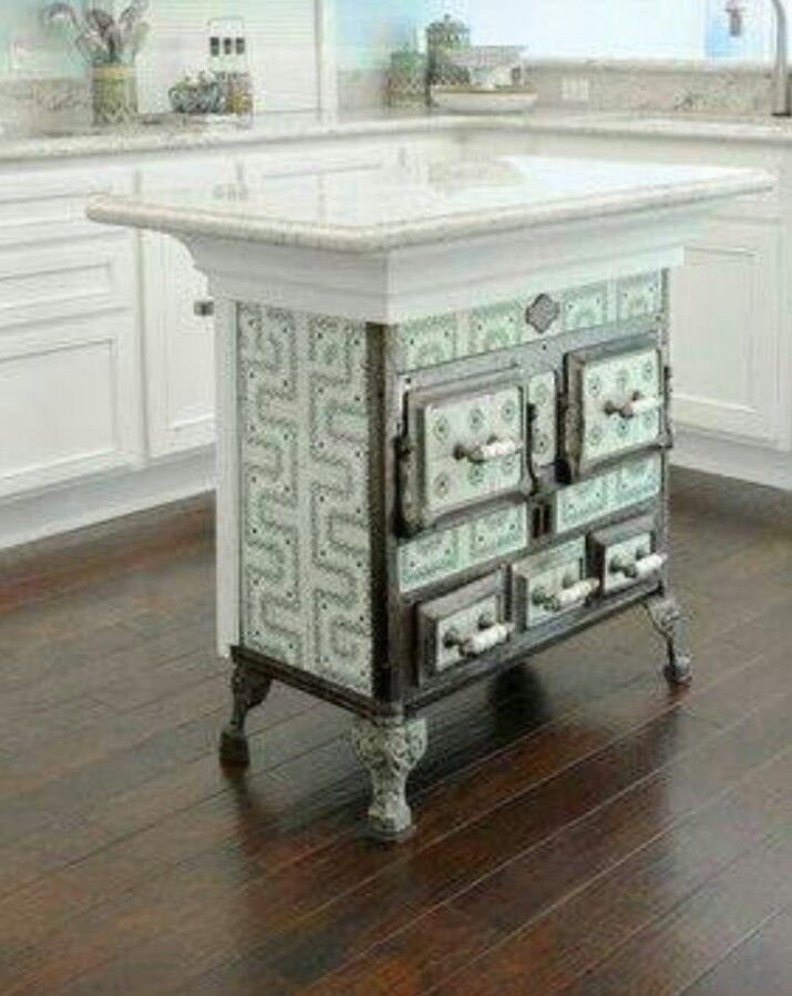 Antique Kitchen Islands Antique Stove Recycled As Kitchen Island | Kitchen Islands