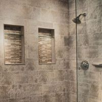 Recessed shelving in shower | Yep, more ideas for my home ...