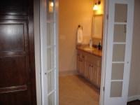 French Door Bathroom Entrance | Barn doors | Pinterest