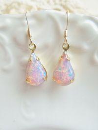 Vintage Fire Opal Earrings   opals   Pinterest