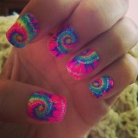 Tie dye nails | Nails | Pinterest