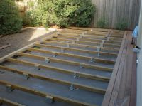 attaching a low deck to a concrete slab. | patio/backyard ...