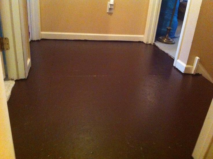 Painted plywood floor