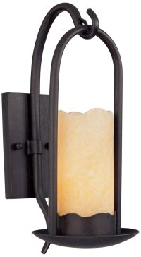 Hanging Onyx Faux Candle Wall Sconce
