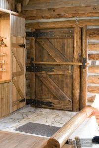 log-home--front-door-with-bar | Rustic | Pinterest