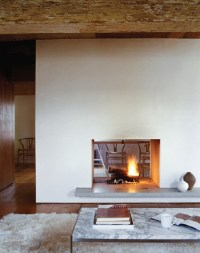 double-sided fireplace | Dream Home | Pinterest