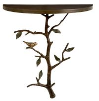 wall mount half moon table | Home: Furniture | Pinterest