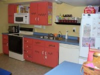 Pretty and colorful daycare kitchen area | Day Care Ideas ...