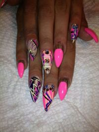 Ghetto fab nails | Ghetto nails but I like them! | Pinterest