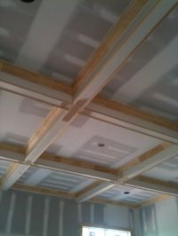 coffered ceiling great room | Arts and Crafts Home | Pinterest