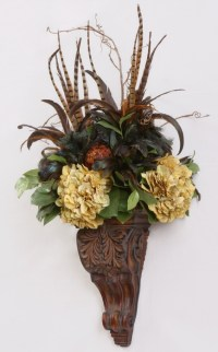 floral wall sconce | Floral beside my tv | Pinterest