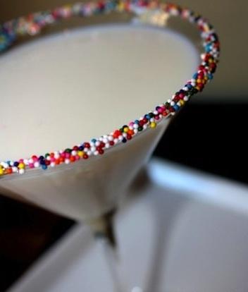 Fabulous Birthday Martini with rainbow sprinkles