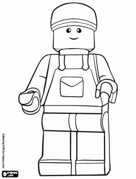 Lego Minifigure Coloring Pages Lego toys minifigure coloring page Birthday Py Lego x
