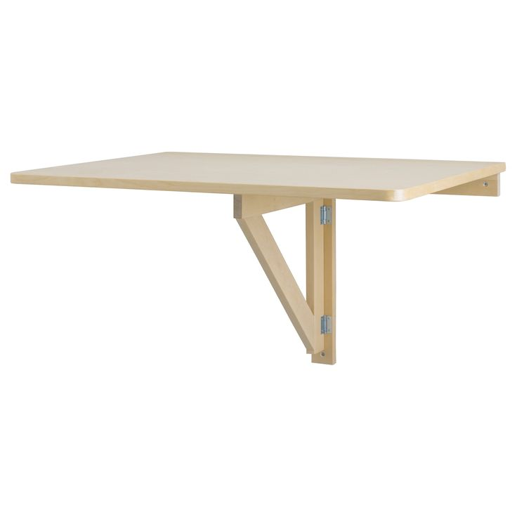 Drop Leaf Wall Table Norbo Wall-mounted Drop-leaf Table, Birch