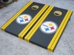 Custom Cornhole Boards Pittsburgh Steelers