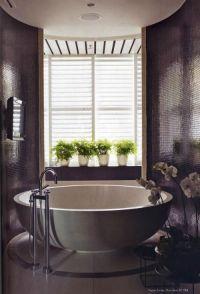 Plum colored bathroom. Stunning! | Bathroom Designs ...